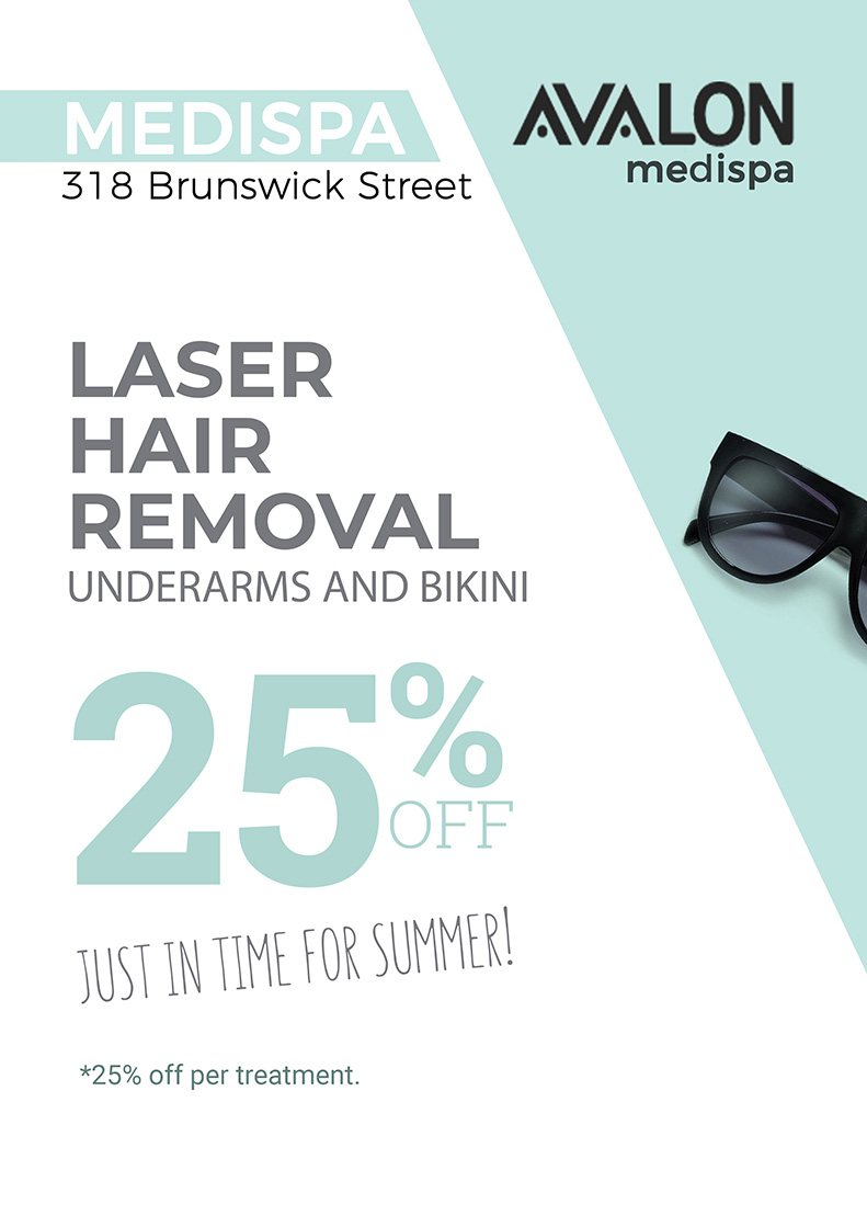 Laser hair removal at 25 percent off